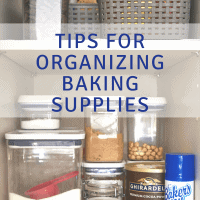 Tips for Organizing Baking Supplies bakeorbreak.com