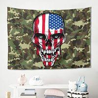 Homedb-americana-camuflaje-esterilla-dormitorio-tapiz-de-calavera
