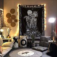 calaveras-psicodélico-esqueleto-dormitorio-Decoraciones-tapiz-de-calavera