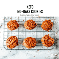 keto no bake cookies on rack featured image