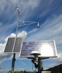 Stazione meteo pannelli solare
