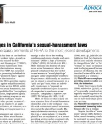 Changes In Sexual Harassment Laws Article