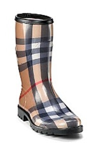 Burberry Womens Check Rain Boots