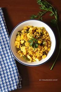 Sweet Corn Capsicum Paneer Masala Rice