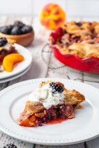 Blackberry Peach Pie15