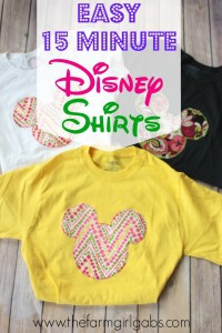 Show your #DisneySide with these fun, quick and easy Disney Shirts. They are perfect for your next Walt Disney World Vacation, a Disney Side At Home Celebration or just because.