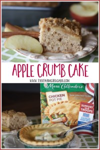 This moist Apple Crumb Cake goes perfectly with Marie Callender's® Chicken Pot Pie. This dessert recipe is easy and delicious. [Ad] #PotPiePlease