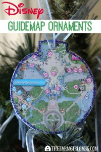 Turn those extra Disney Guidemaps you have collected into these fun Disney Guidemap Christmas Ornaments. This easy craft project adds a little Disney magic to your Christmas tree.