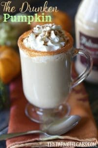Raise a glass to this delicious Drunken Pumpkin Spiced Latte. This simple recipe the is perfect adult fall drink.