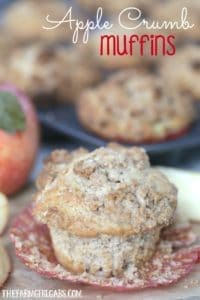This is the BEST Apple Crumb Muffin recipe around. These muffins are loaded with sweet apples and topped with a buttery brown sugar crumb mixture.