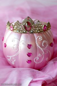 Turn an ordinary pumpkin into this beautiful Sleeping Beauty Pumpkin. This Disney-inspired craft is something your little princess will enjoy creating for Halloween.