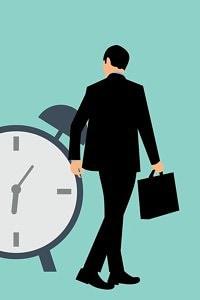 man concerned about overtime work