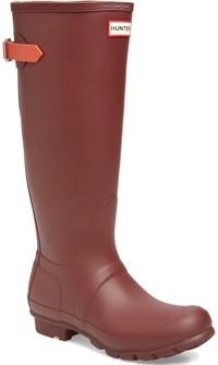 Hunter tall waterproof rain boot   40plusstyle.com