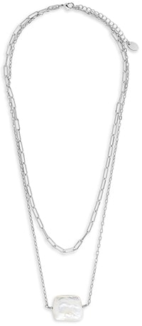 Sterling Forever layered pendant necklace | 40plusstyle.com