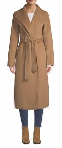 Lord + Taylor 'Tahari' wrap coat | 40plusstyle.com