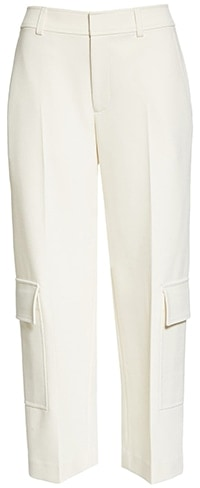 Wardrobe essentials - Club Monaco cargo crop pants | 40plusstyle.com
