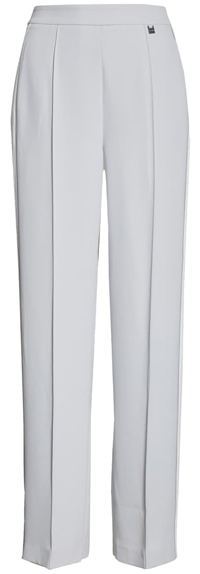 white smart pants with an elastic waist from Ted Baker | 40plusstyle.com