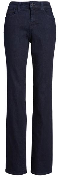 NYDJ high waist stretch straight leg jeans   40plusstyle.com