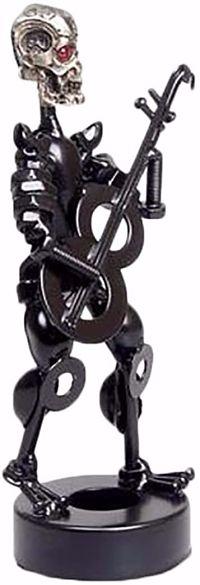 Calavera-Decoración-Estatua-guitarra-Terminator-calavera-terminator