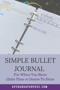 Create a simple bullet journal. Create a bullet journal when you don't have time. Create a bullet journal when you don't like to draw.