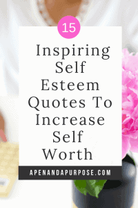 Inspiring self esteem quotes to increase self worth. Quote on self esteem, self worth, and self confidence.