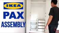 IKEA PAX Wardrobe Assembly  (Hinges)
