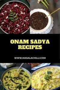 Onam Sadya Recipes