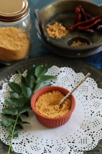 Kara Sundal Podi / Spicy South Indian Lentil Mix for Navaratri Sundals