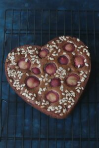 Eggless Fresh Plum Cake Recipe (Whole Wheat, No Refined Sugar)