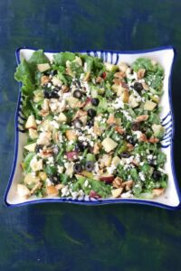 Pear Salad with Feta Cheese, Apples and Walnuts