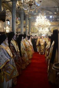 Ecumenical Patriarch Bartholomew presides at festal Liturgy in St. George Patriarchal Cathedral.