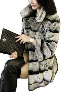 abrigo de piel amazon