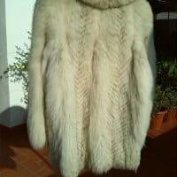 Chaquetón zorro blanco