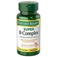 Natures Bounty B Complex With Folic Acid Plus Witamina C