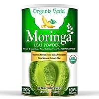 Polvo orgánico de hoja de moringa Veda orgánico