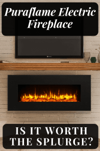 Puraflame Serena Wall Mounted Electric Fireplace: A review on the stunning Puraflame Serena 50 inch electric fireplace that mounts on your wall. #puraflameserena #wallmountelectricfireplace #electricfireplace #puraflame #homedecor #FireplaceLab