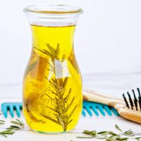 DIY Rosemary Hot Oil Hair Treatment