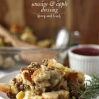 Turkey Breakfast Sausage and Apple Dressing
