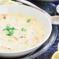 Turkey Avgolemono Soup