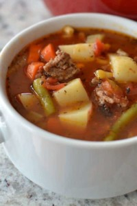 Homemade Vegetable Soup with Hamburger