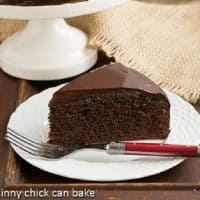 One Layer Fudge Cake - a decadent, chocolate dessert for when you don't need a huge cake