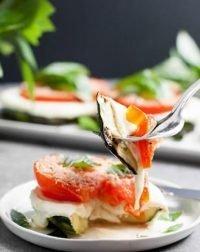 Grilled Zucchini Caprese Stacks