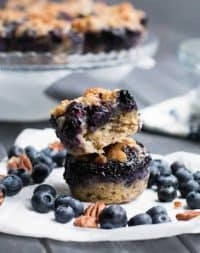 Blueberry Pie Baked Oatmeal-feat