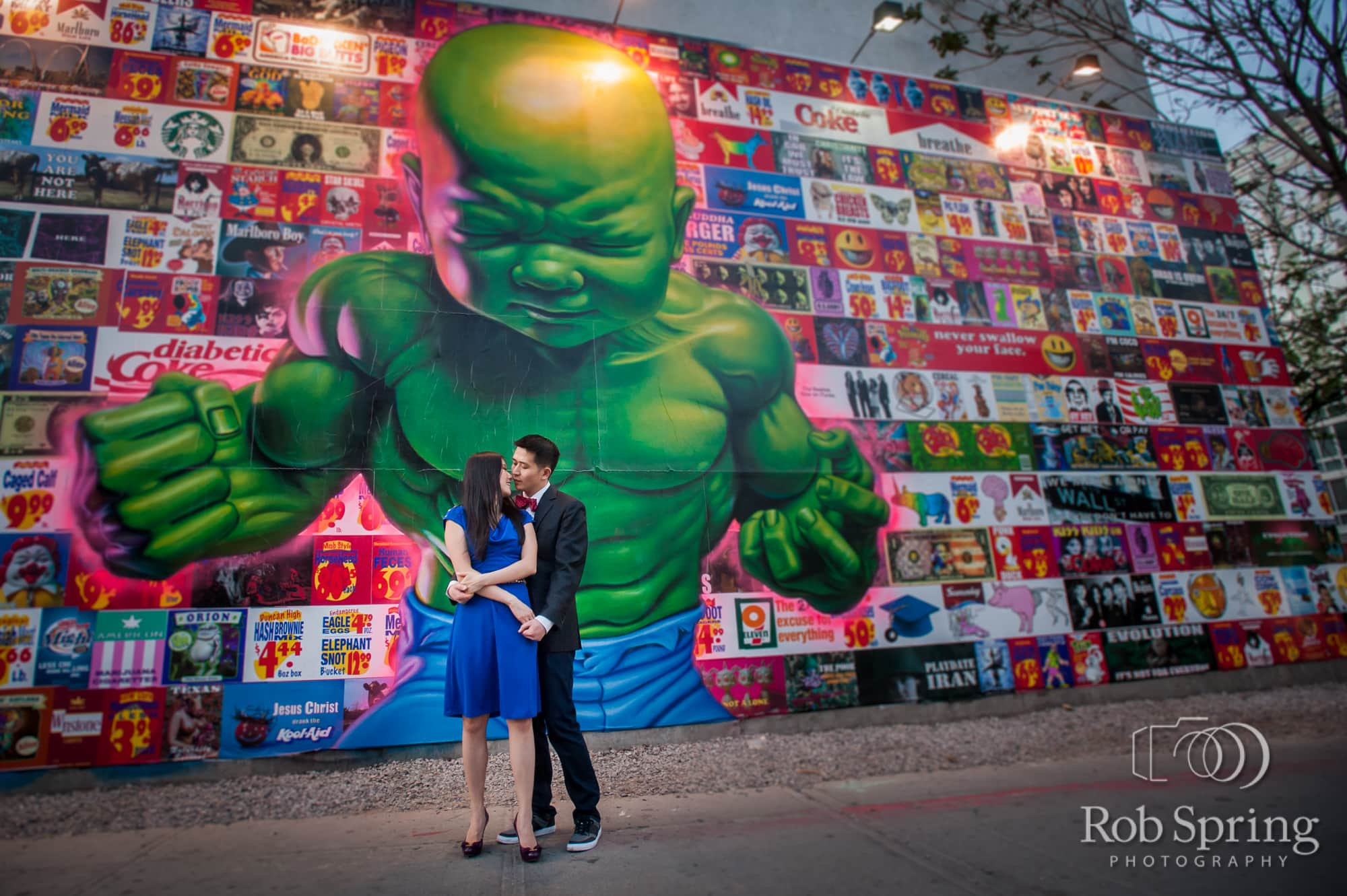 The Bowery NYC engagement session