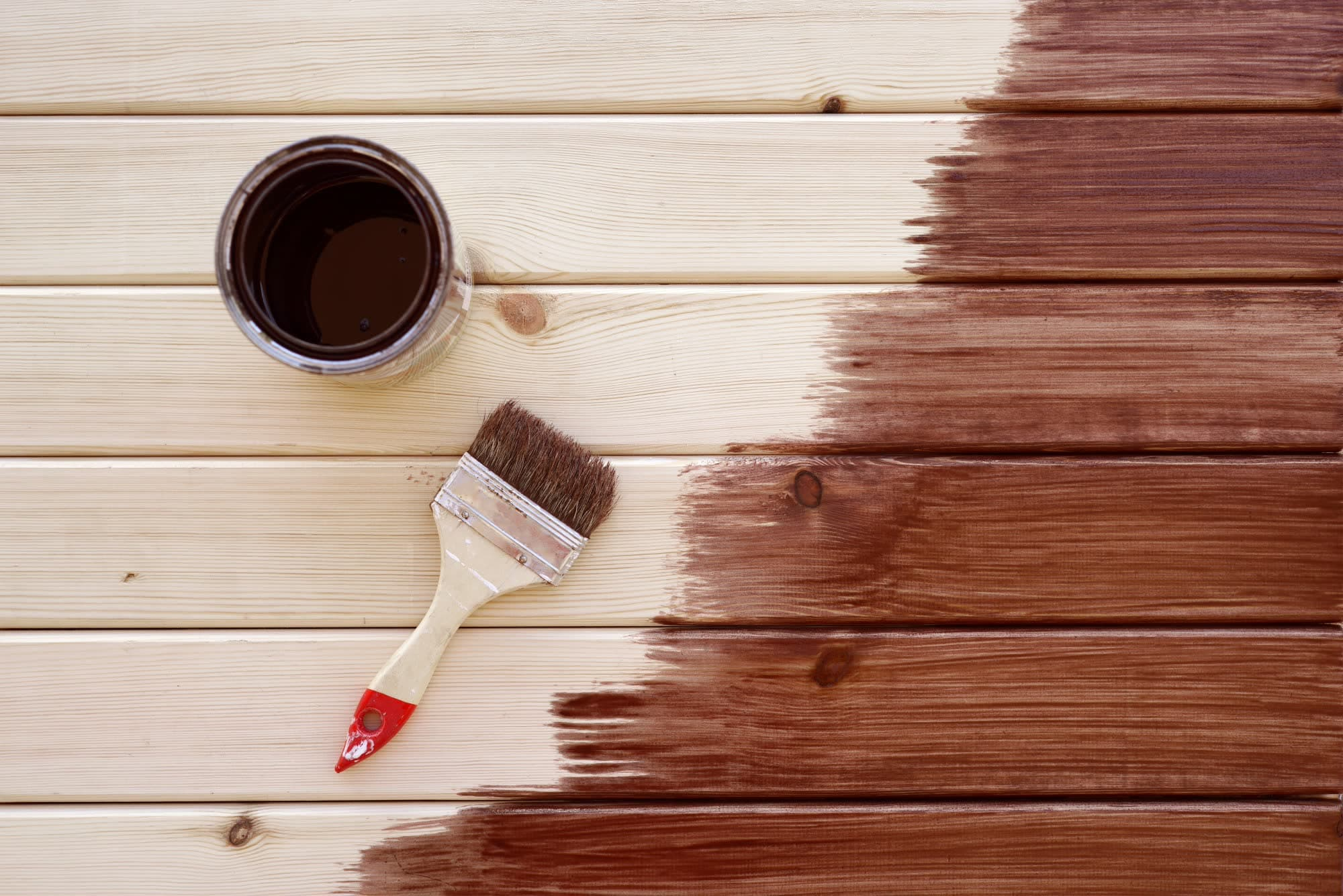Painting a wooden shelf using1-