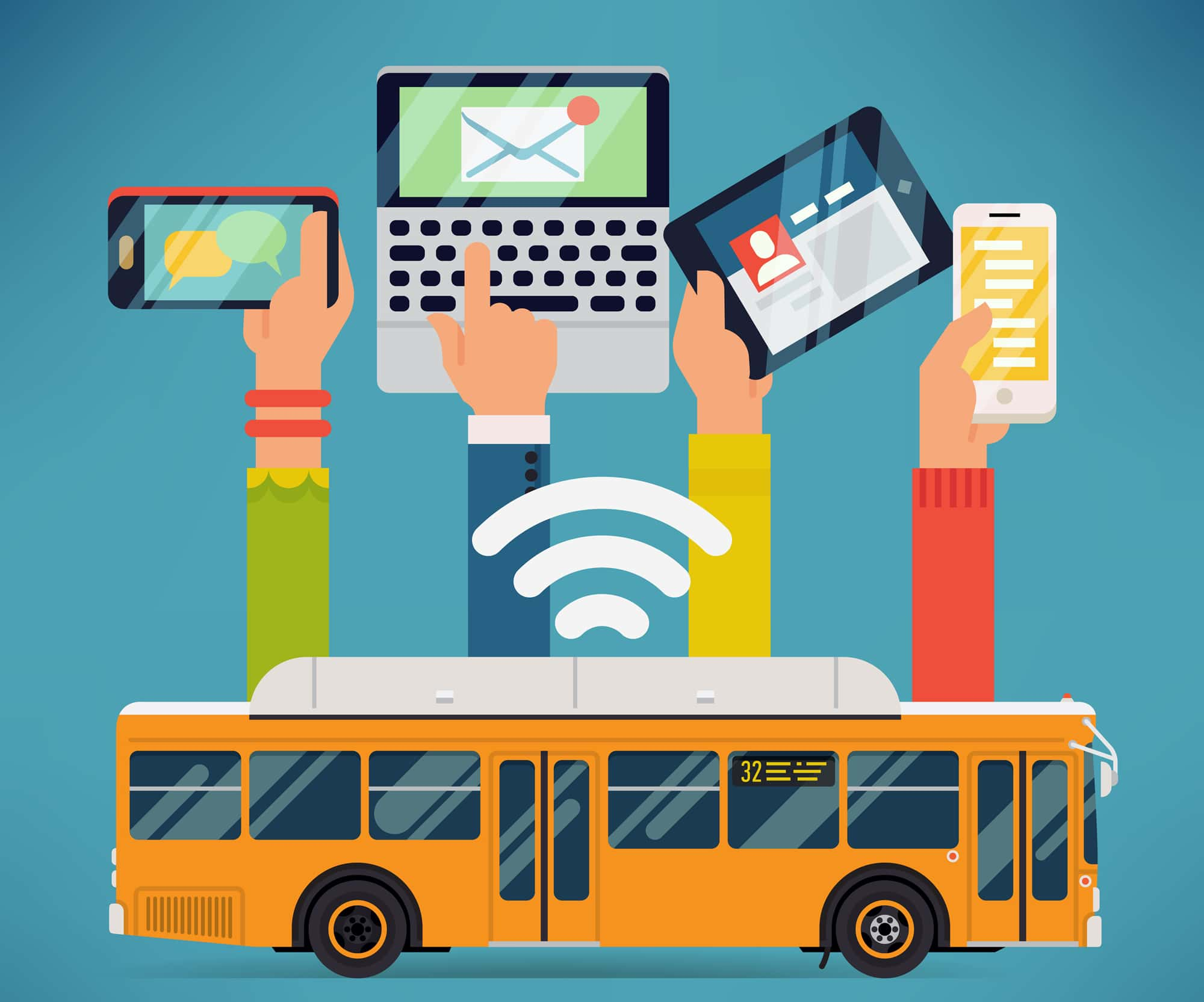 Wifi advantages in bus