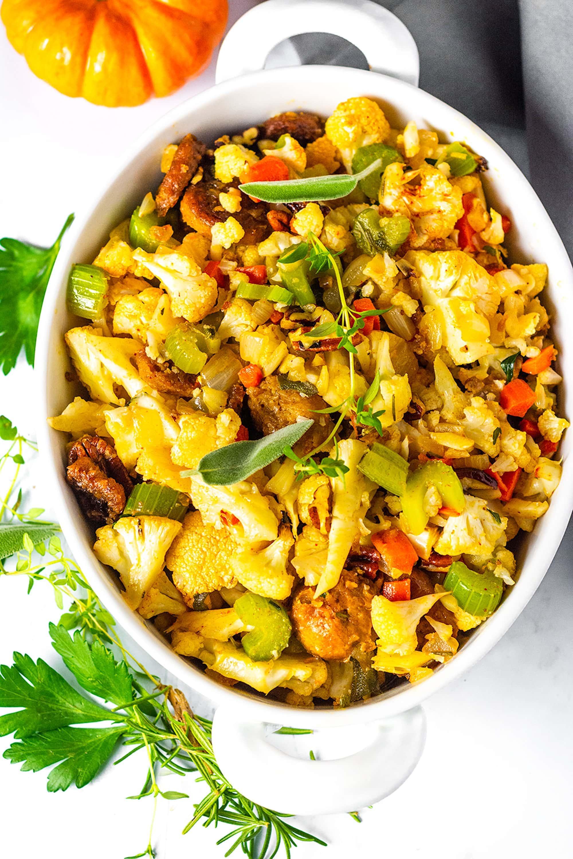 Vegan Cauliflower Stuffing