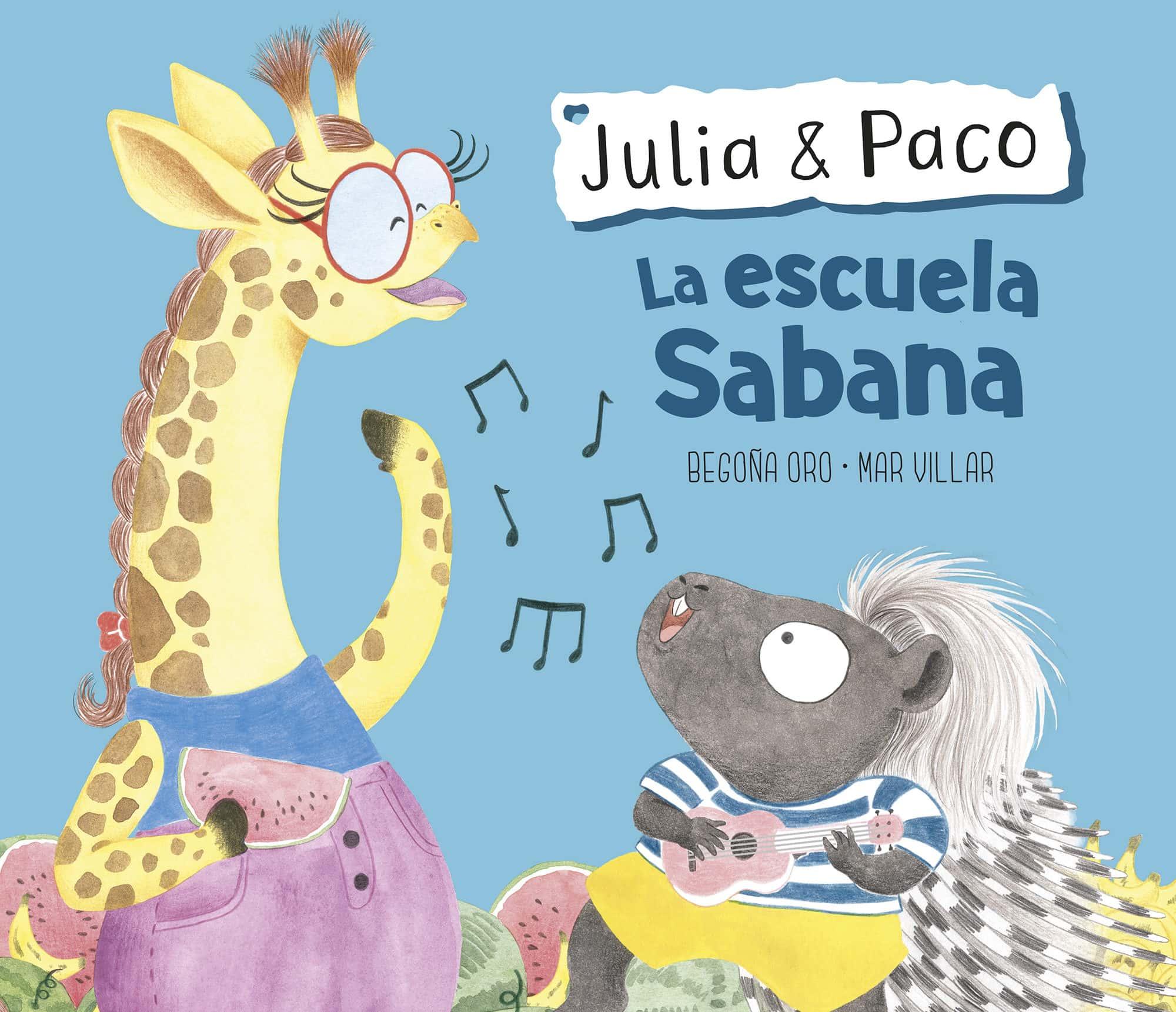Julia & Paco, colección de libros infantiles, Beascoa, Begoña Oro, ilustración de animales, ilustración infantil, ilustración de animales africanos,