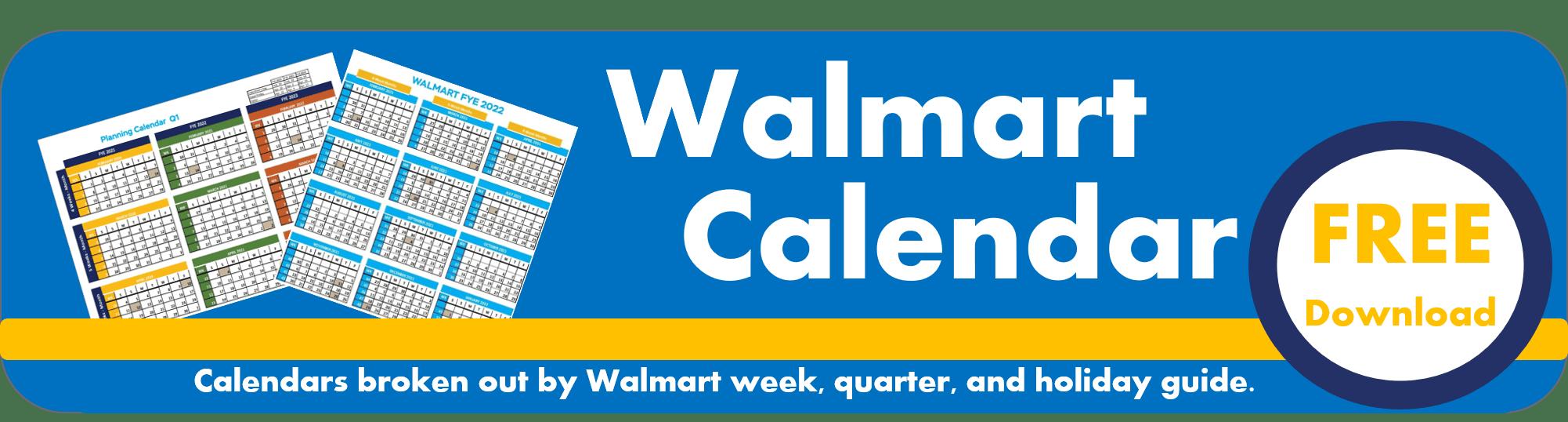Walmart Fiscal Year Planning Calendar