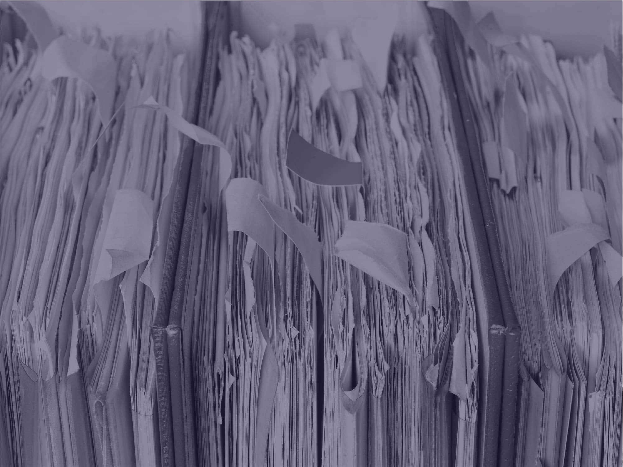 Messy paper files image
